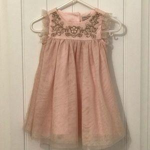Catherine Malandrino pink & gold dress size 6-9